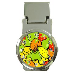 Digitally Created Funky Fruit Wallpaper Money Clip Watches