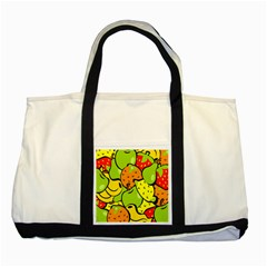 Digitally Created Funky Fruit Wallpaper Two Tone Tote Bag