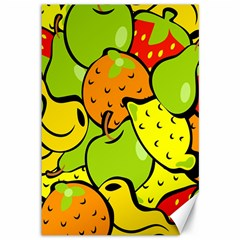 Digitally Created Funky Fruit Wallpaper Canvas 12  x 18