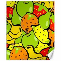 Digitally Created Funky Fruit Wallpaper Canvas 16  X 20