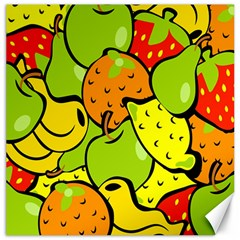 Digitally Created Funky Fruit Wallpaper Canvas 20  x 20