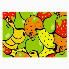 Digitally Created Funky Fruit Wallpaper Large Glasses Cloth (2-Side)