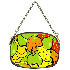 Digitally Created Funky Fruit Wallpaper Chain Purses (one Side)