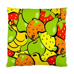 Digitally Created Funky Fruit Wallpaper Standard Cushion Case (Two Sides)
