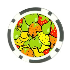 Digitally Created Funky Fruit Wallpaper Poker Chip Card Guard (10 pack)
