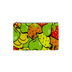 Digitally Created Funky Fruit Wallpaper Cosmetic Bag (Small)