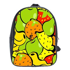 Digitally Created Funky Fruit Wallpaper School Bags(Large)