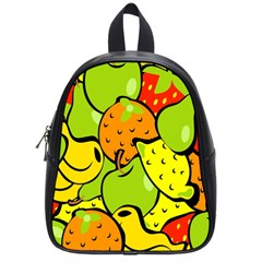 Digitally Created Funky Fruit Wallpaper School Bags (Small)