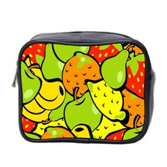 Digitally Created Funky Fruit Wallpaper Mini Toiletries Bag 2-Side