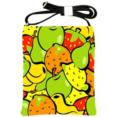 Digitally Created Funky Fruit Wallpaper Shoulder Sling Bags