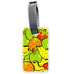 Digitally Created Funky Fruit Wallpaper Luggage Tags (Two Sides)