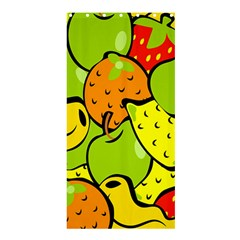 Digitally Created Funky Fruit Wallpaper Shower Curtain 36  x 72  (Stall)