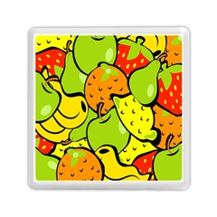 Digitally Created Funky Fruit Wallpaper Memory Card Reader (square)