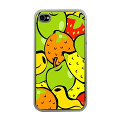 Digitally Created Funky Fruit Wallpaper Apple iPhone 4 Case (Clear)