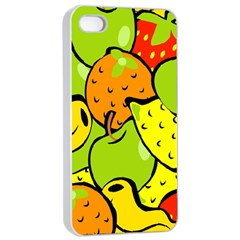 Digitally Created Funky Fruit Wallpaper Apple iPhone 4/4s Seamless Case (White)