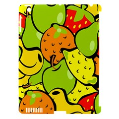 Digitally Created Funky Fruit Wallpaper Apple iPad 3/4 Hardshell Case (Compatible with Smart Cover)