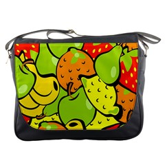 Digitally Created Funky Fruit Wallpaper Messenger Bags