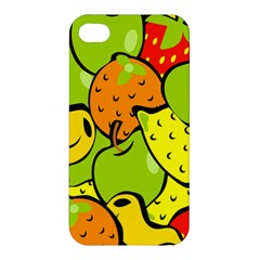 Digitally Created Funky Fruit Wallpaper Apple iPhone 4/4S Premium Hardshell Case