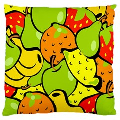 Digitally Created Funky Fruit Wallpaper Large Cushion Case (One Side)