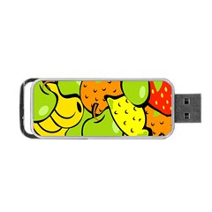 Digitally Created Funky Fruit Wallpaper Portable Usb Flash (two Sides)