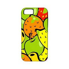 Digitally Created Funky Fruit Wallpaper Apple Iphone 5 Classic Hardshell Case (pc+silicone)