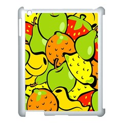 Digitally Created Funky Fruit Wallpaper Apple iPad 3/4 Case (White)