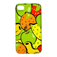 Digitally Created Funky Fruit Wallpaper Apple Iphone 4/4s Hardshell Case With Stand