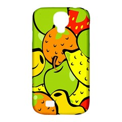 Digitally Created Funky Fruit Wallpaper Samsung Galaxy S4 Classic Hardshell Case (pc+silicone)