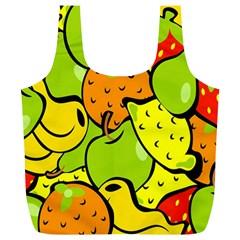 Digitally Created Funky Fruit Wallpaper Full Print Recycle Bags (l)