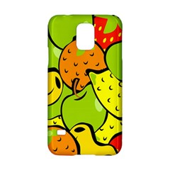 Digitally Created Funky Fruit Wallpaper Samsung Galaxy S5 Hardshell Case