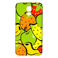 Digitally Created Funky Fruit Wallpaper Samsung Galaxy S5 Back Case (White)
