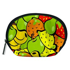 Digitally Created Funky Fruit Wallpaper Accessory Pouches (Medium)