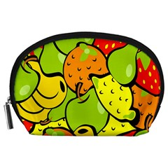 Digitally Created Funky Fruit Wallpaper Accessory Pouches (Large)
