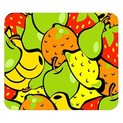 Digitally Created Funky Fruit Wallpaper Double Sided Flano Blanket (Small)