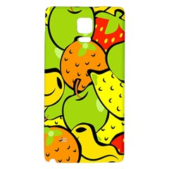 Digitally Created Funky Fruit Wallpaper Galaxy Note 4 Back Case