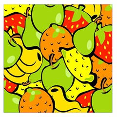 Digitally Created Funky Fruit Wallpaper Large Satin Scarf (square)