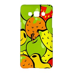 Digitally Created Funky Fruit Wallpaper Samsung Galaxy A5 Hardshell Case