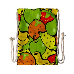 Digitally Created Funky Fruit Wallpaper Drawstring Bag (Small)