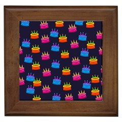 A Tilable Birthday Cake Party Background Framed Tiles