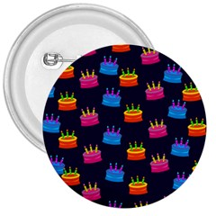 A Tilable Birthday Cake Party Background 3  Buttons