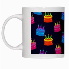 A Tilable Birthday Cake Party Background White Mugs