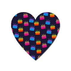 A Tilable Birthday Cake Party Background Heart Magnet