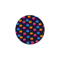 A Tilable Birthday Cake Party Background Golf Ball Marker