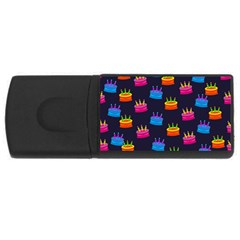 A Tilable Birthday Cake Party Background USB Flash Drive Rectangular (2 GB)