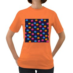 A Tilable Birthday Cake Party Background Women s Dark T-Shirt