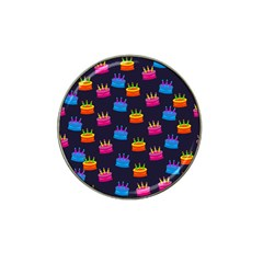 A Tilable Birthday Cake Party Background Hat Clip Ball Marker (4 Pack)