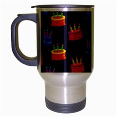 A Tilable Birthday Cake Party Background Travel Mug (silver Gray)