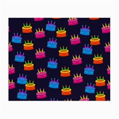 A Tilable Birthday Cake Party Background Small Glasses Cloth
