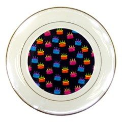 A Tilable Birthday Cake Party Background Porcelain Plates