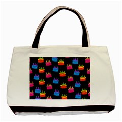 A Tilable Birthday Cake Party Background Basic Tote Bag